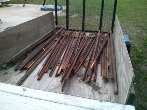 Used t-posts for chicken run fencing from craigslist